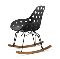 Diamond Dimple Hole Rocking Chair | Kubikoff