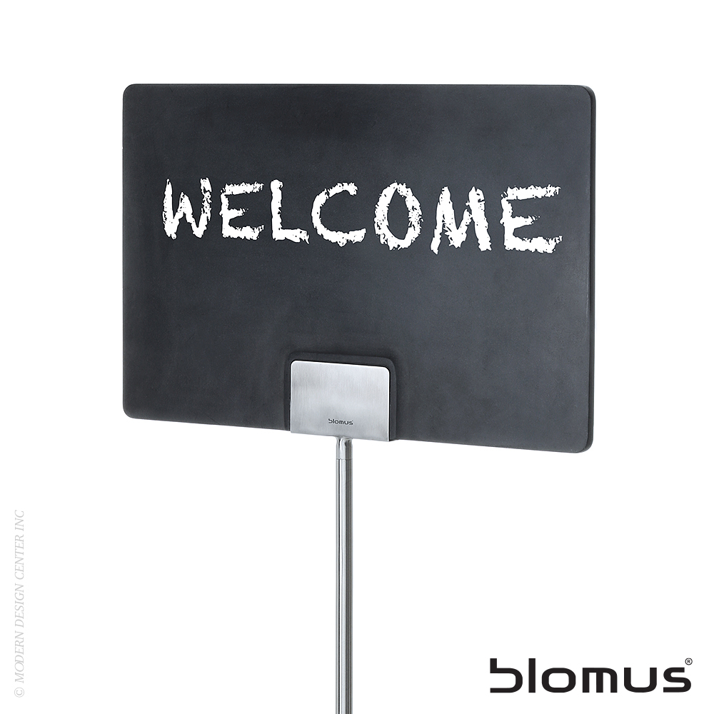 Plana outdoor decorative sign with stake blomus for Outdoor decorative signs