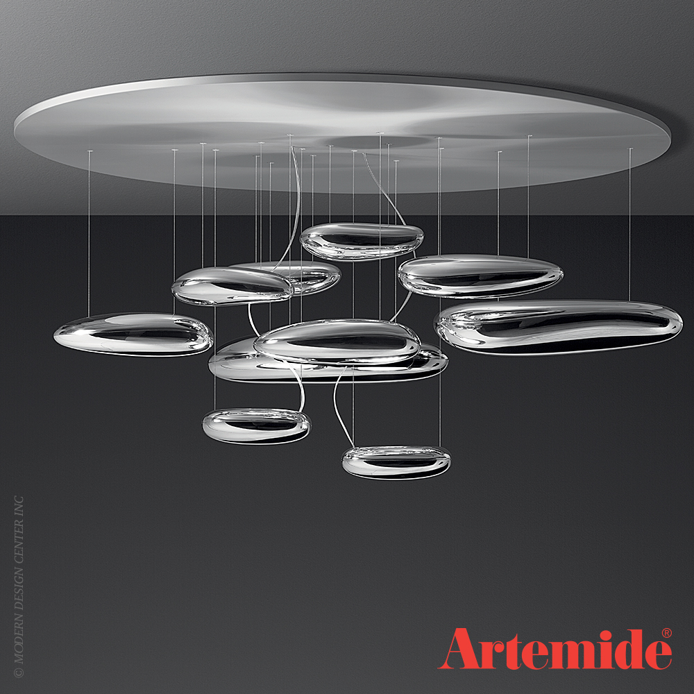 mercury ceiling light artemide metropolitandecor. Black Bedroom Furniture Sets. Home Design Ideas
