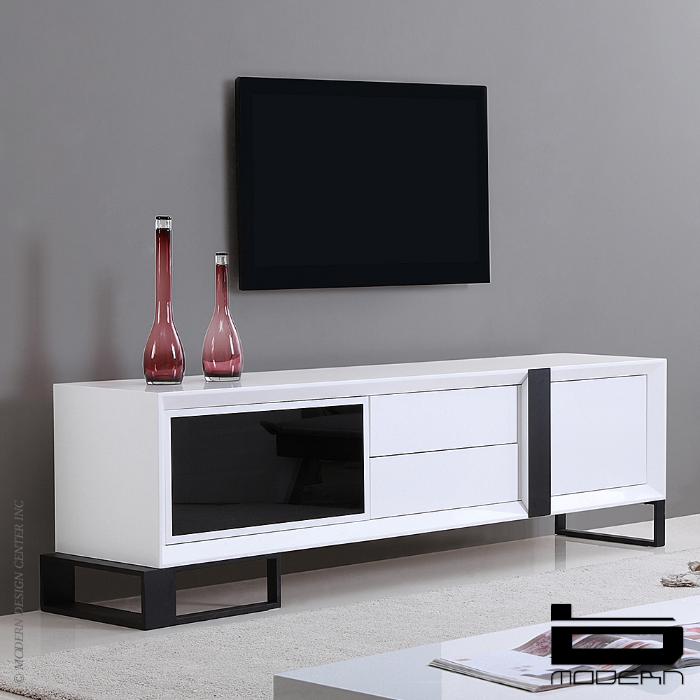 b modern entertainer white tv stands metropolitandecor. Black Bedroom Furniture Sets. Home Design Ideas