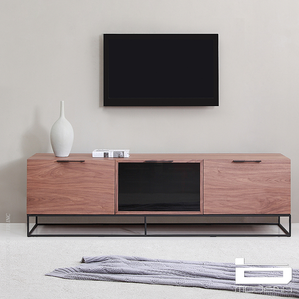 B Modern Animator Walnut Tv Stands Metropolitandecor