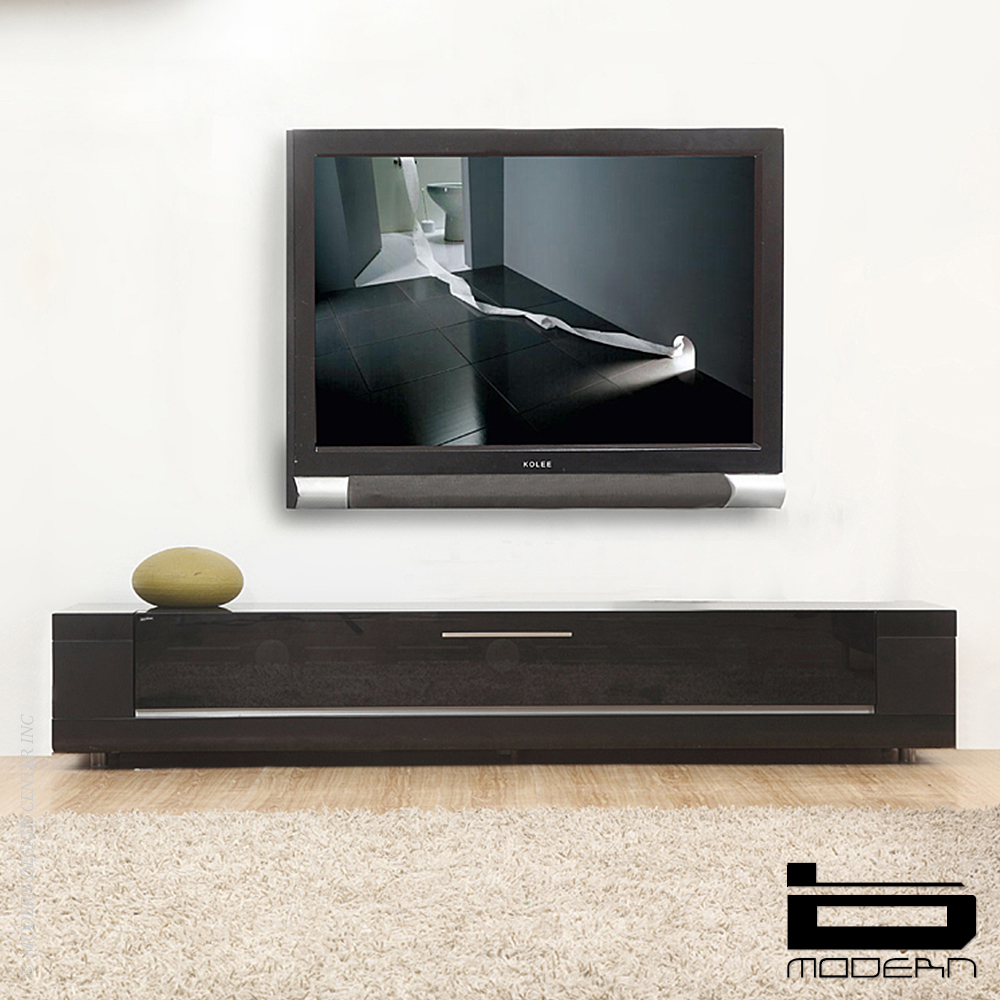 B Modern Editor Remix Matte Black Tv Stands