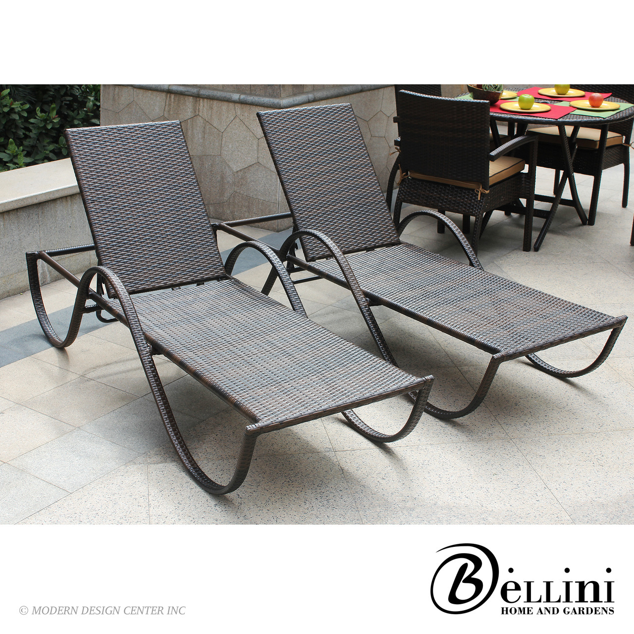 Azul Chaise Lounger W64702 Set Of 2 Bellini