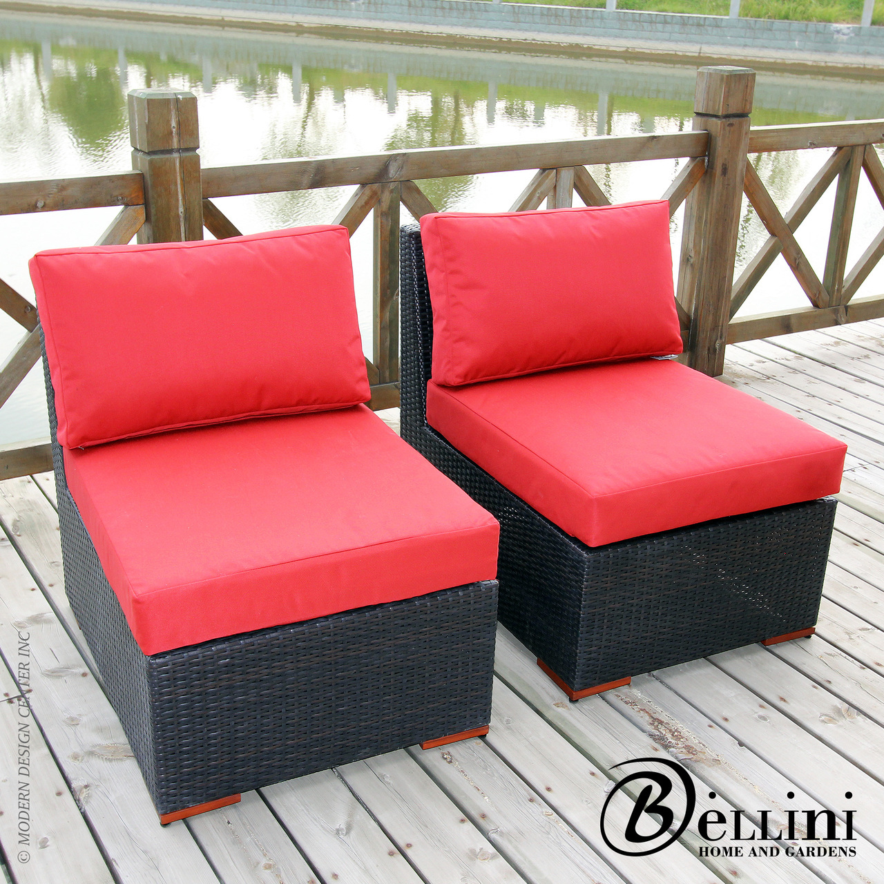 Bali Armless Slipper Chair W771722 Set of 2 | Bellini