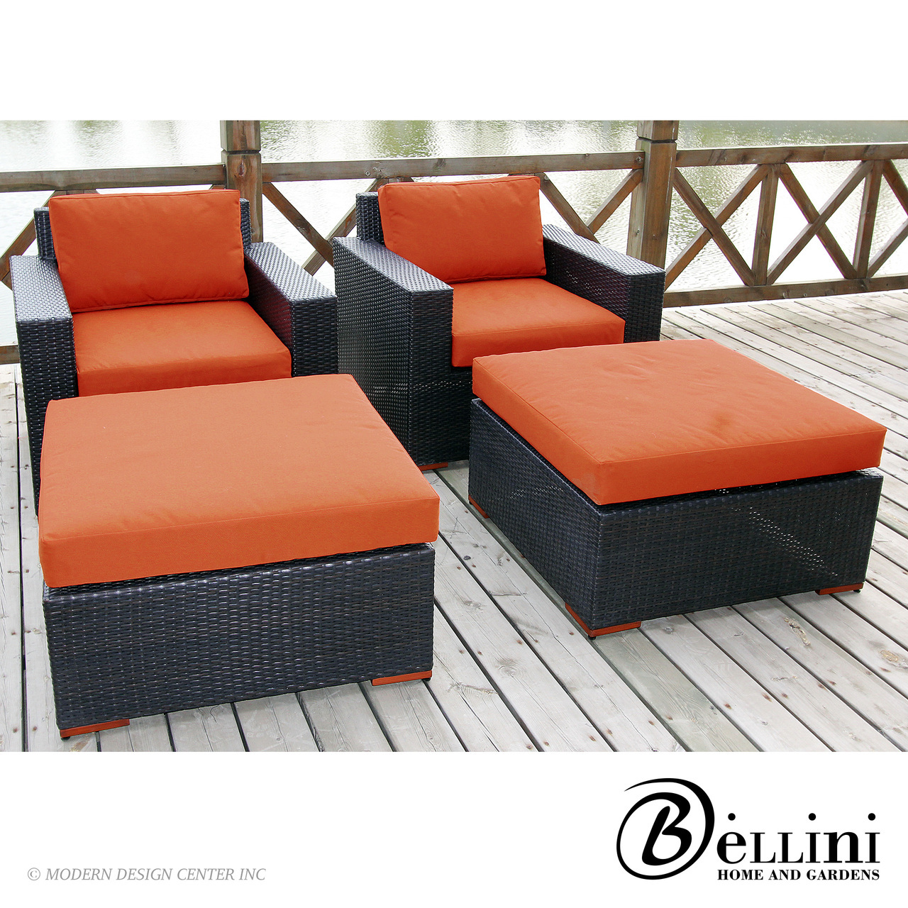 Bali Club Chairs and Ottomans W77104 | Bellini