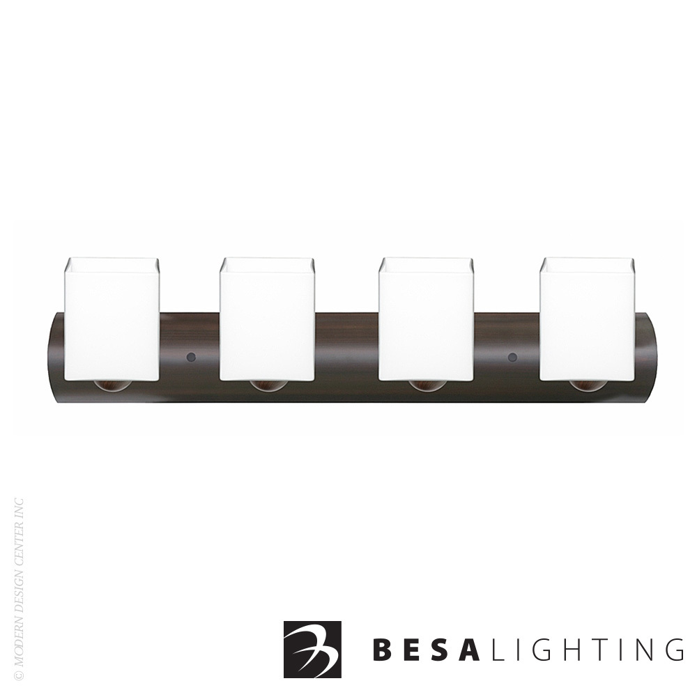 Rise 4-Light LED Vanity Sconce | Besa Lighting