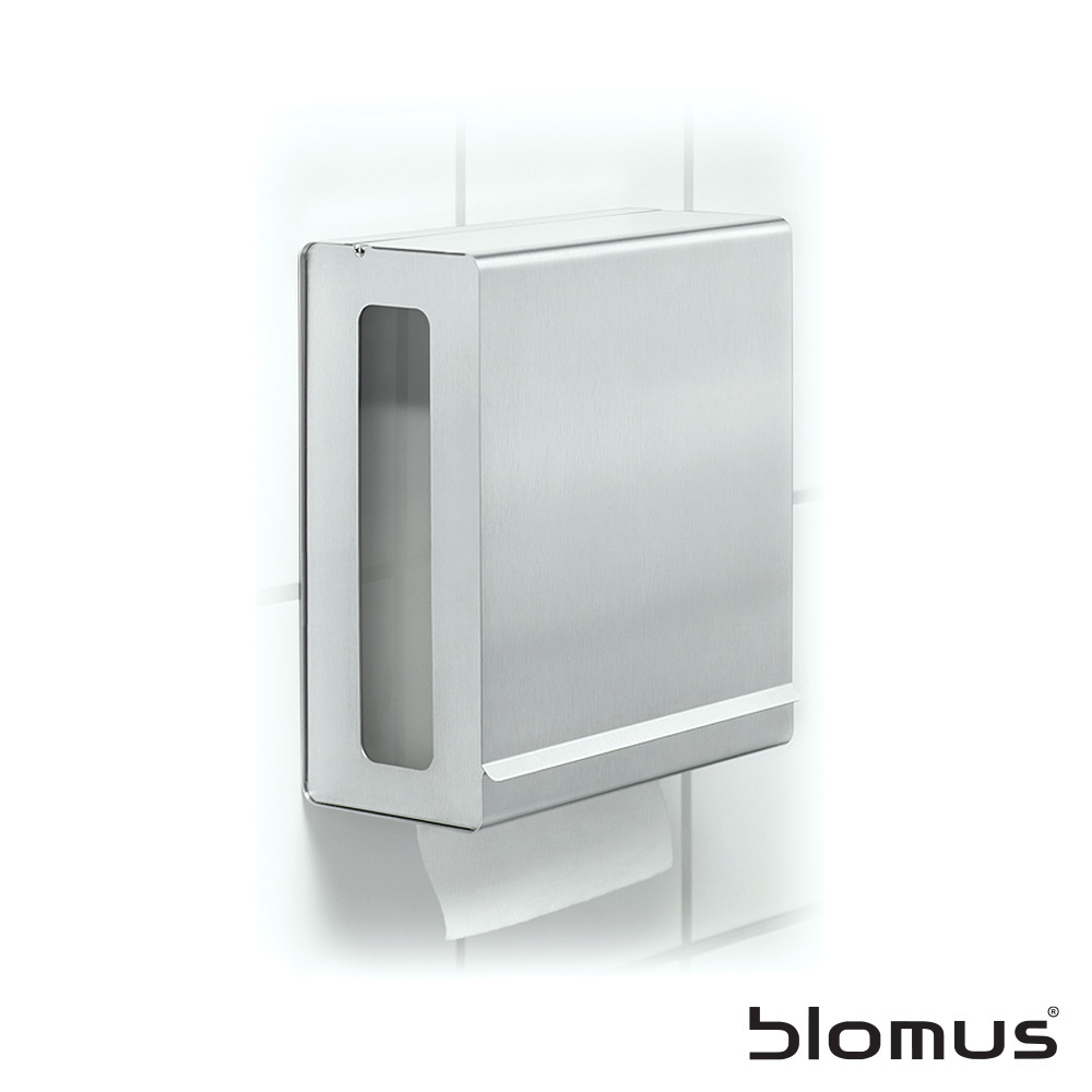 nexio paper towel dispenser blomus metropolitandecor. Black Bedroom Furniture Sets. Home Design Ideas