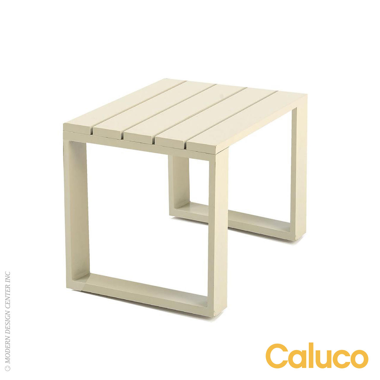 Space end table caluco patio furniture metropolitandecor for Space saving hanging table for balcony