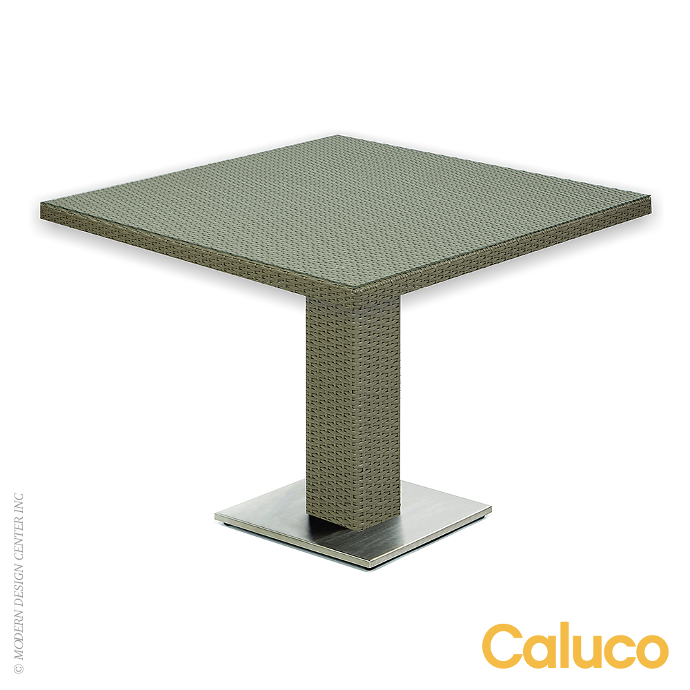 10 Tierra Square Pedestal Dining Table Caluco Patio Furniture