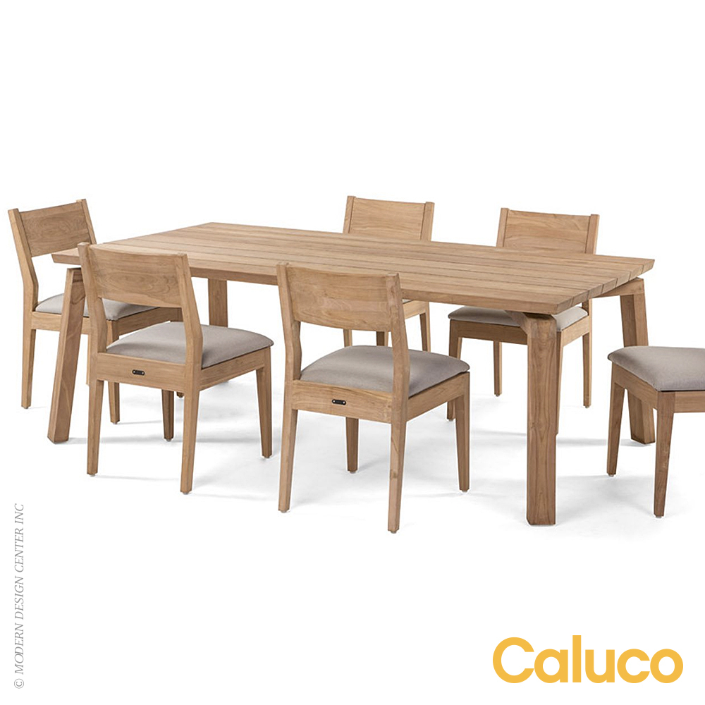 Outdoor Dining Tables Sixty Dining Rectangle Table Caluco Patio