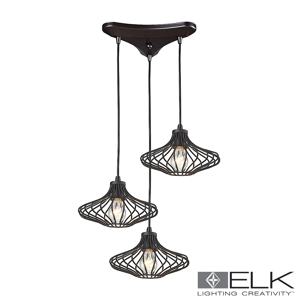 Yardley 3-Light Pendant in Oil Rubbed Bronze