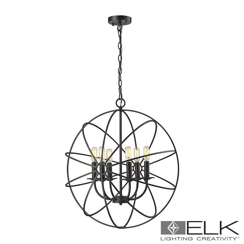 Yardley 6-Light Chandelier in Oil Rubbed Bronze