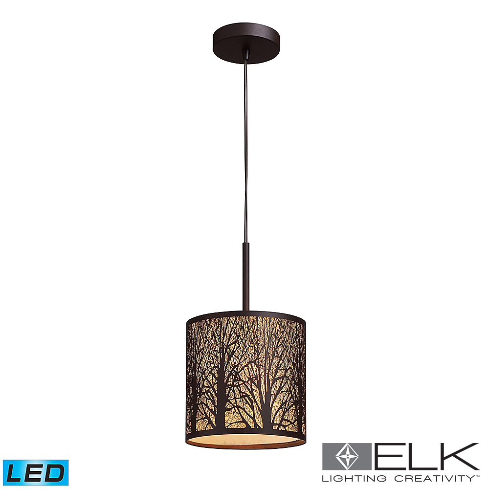 Woodland Sunrise Pendant Light in Aged Bronze LED