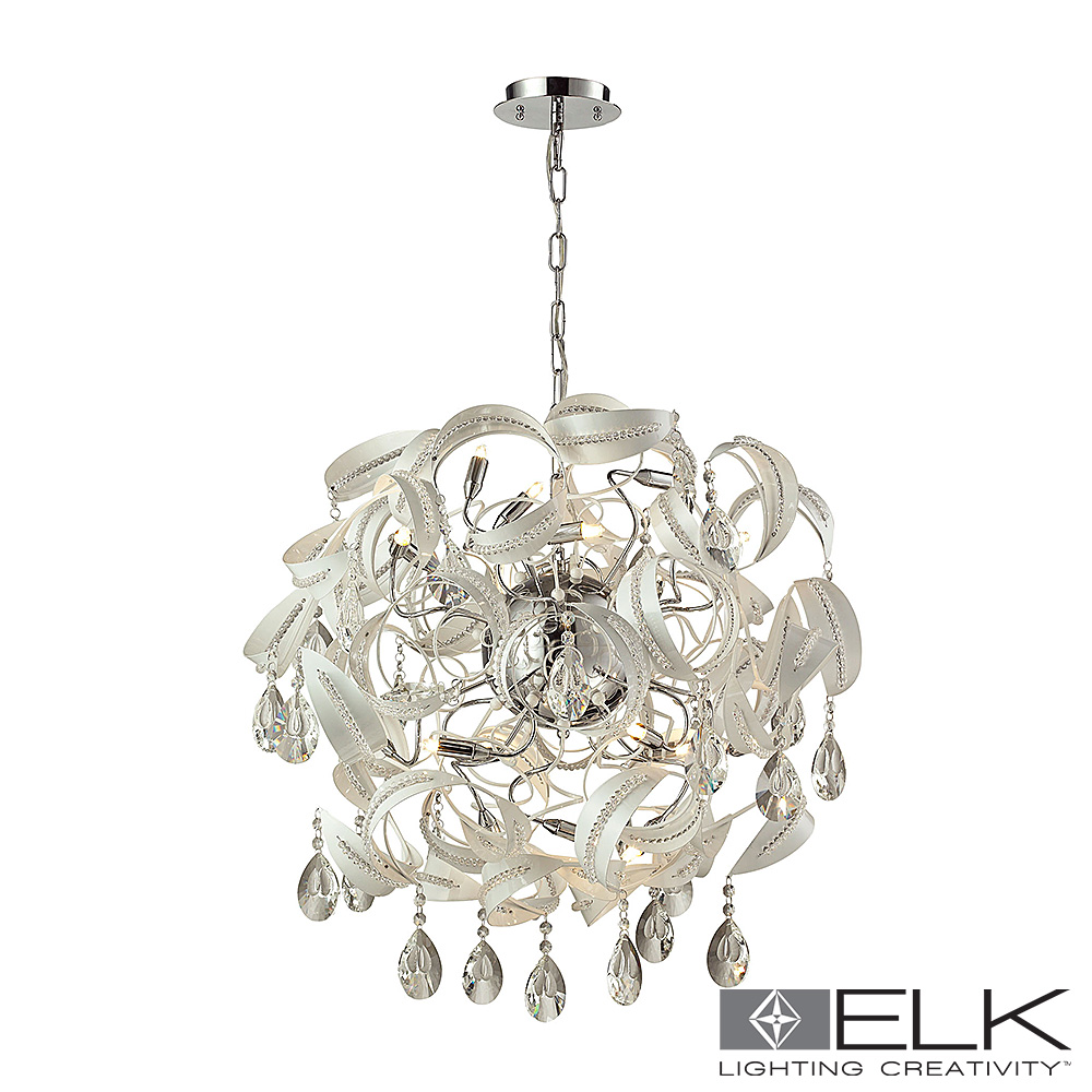 Zebula 18-Light Chandelier in White