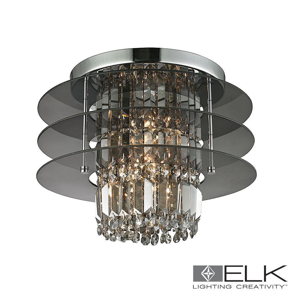 Zoey 3-Light Semi Flush in Polished Chrome