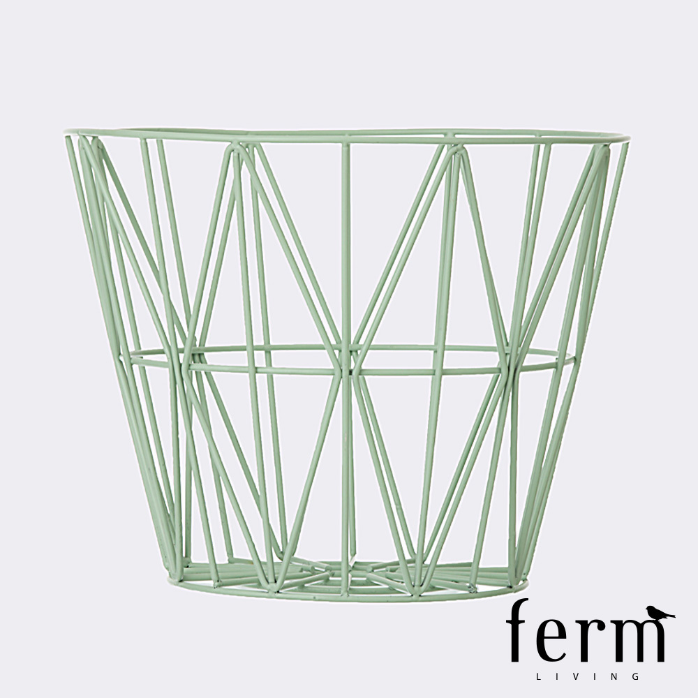 ferm living wire basket large. Black Bedroom Furniture Sets. Home Design Ideas