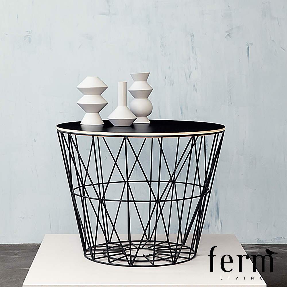 ferm living wire basket top large. Black Bedroom Furniture Sets. Home Design Ideas