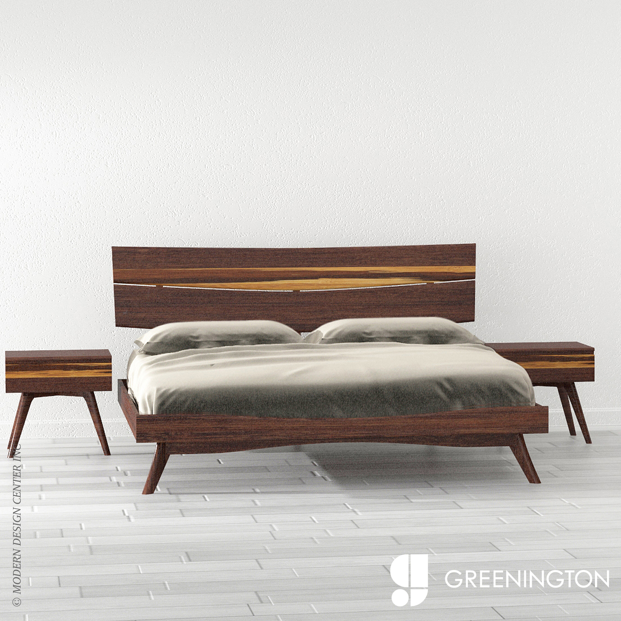 Azara Queen Platform Bed Greenington Metropolitandecor