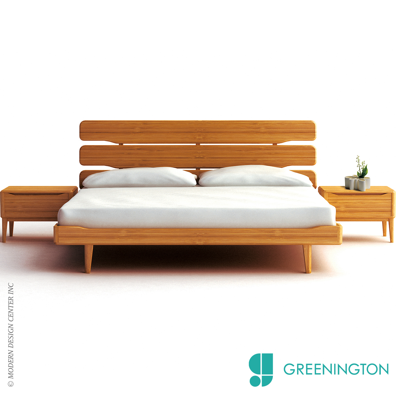 Currant California King Platform Bed Greenington