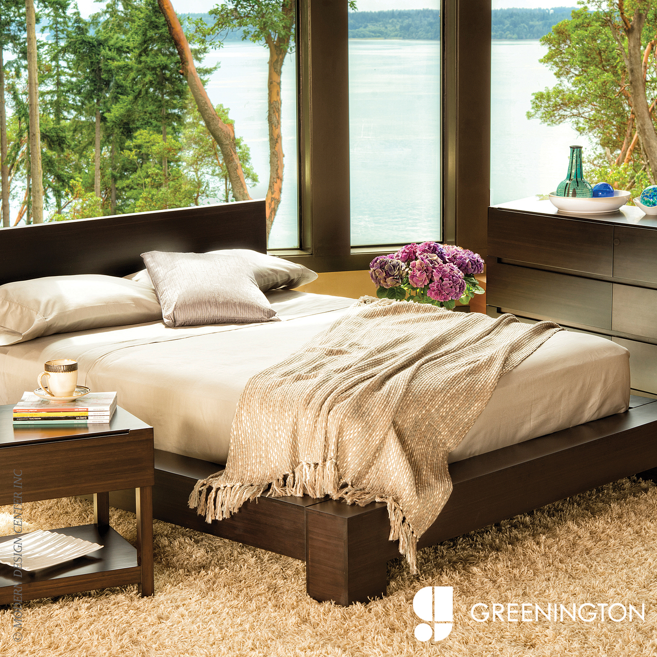 Orchid King Eastern Platform Bed | Greenington