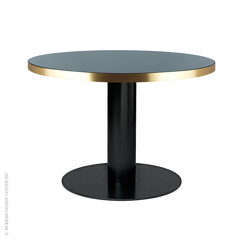 2 0 round dining table glass gubi metropolitandecor Round glass dining table