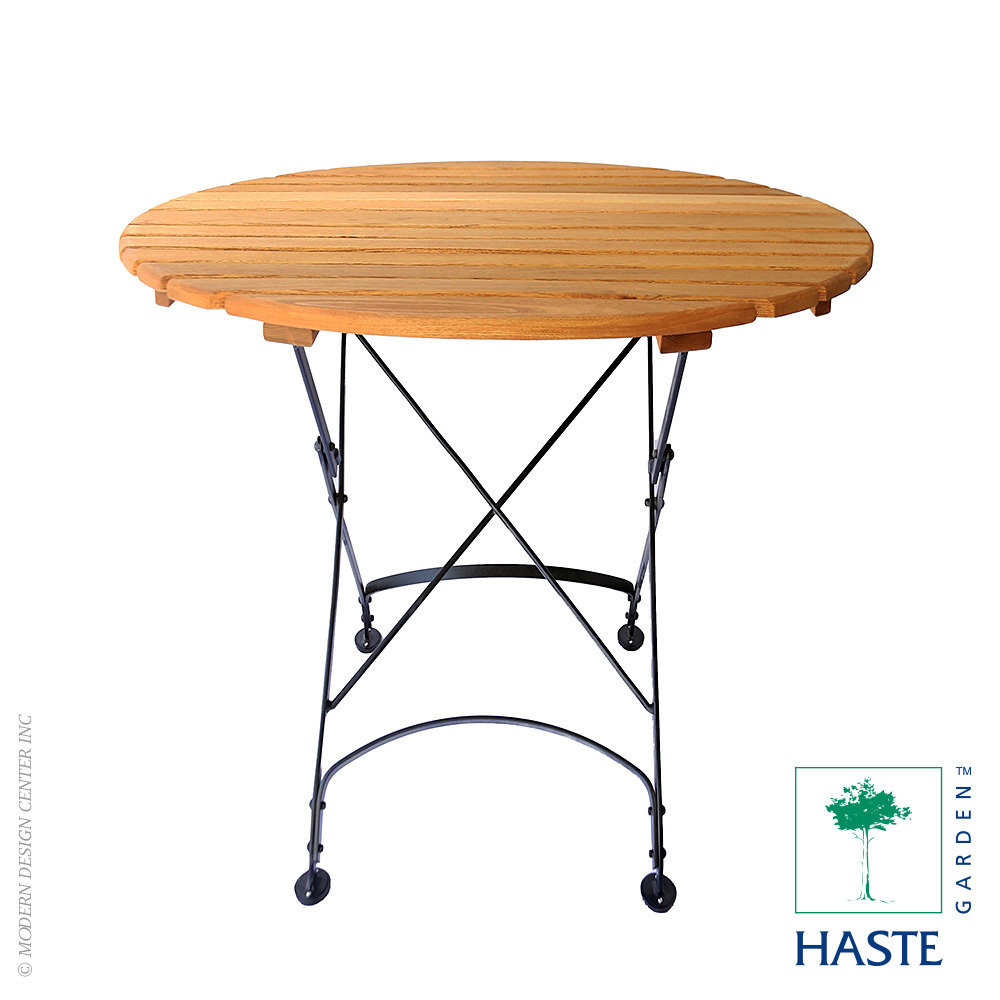 Rebecca folding small round table haste garden for Small round dining table