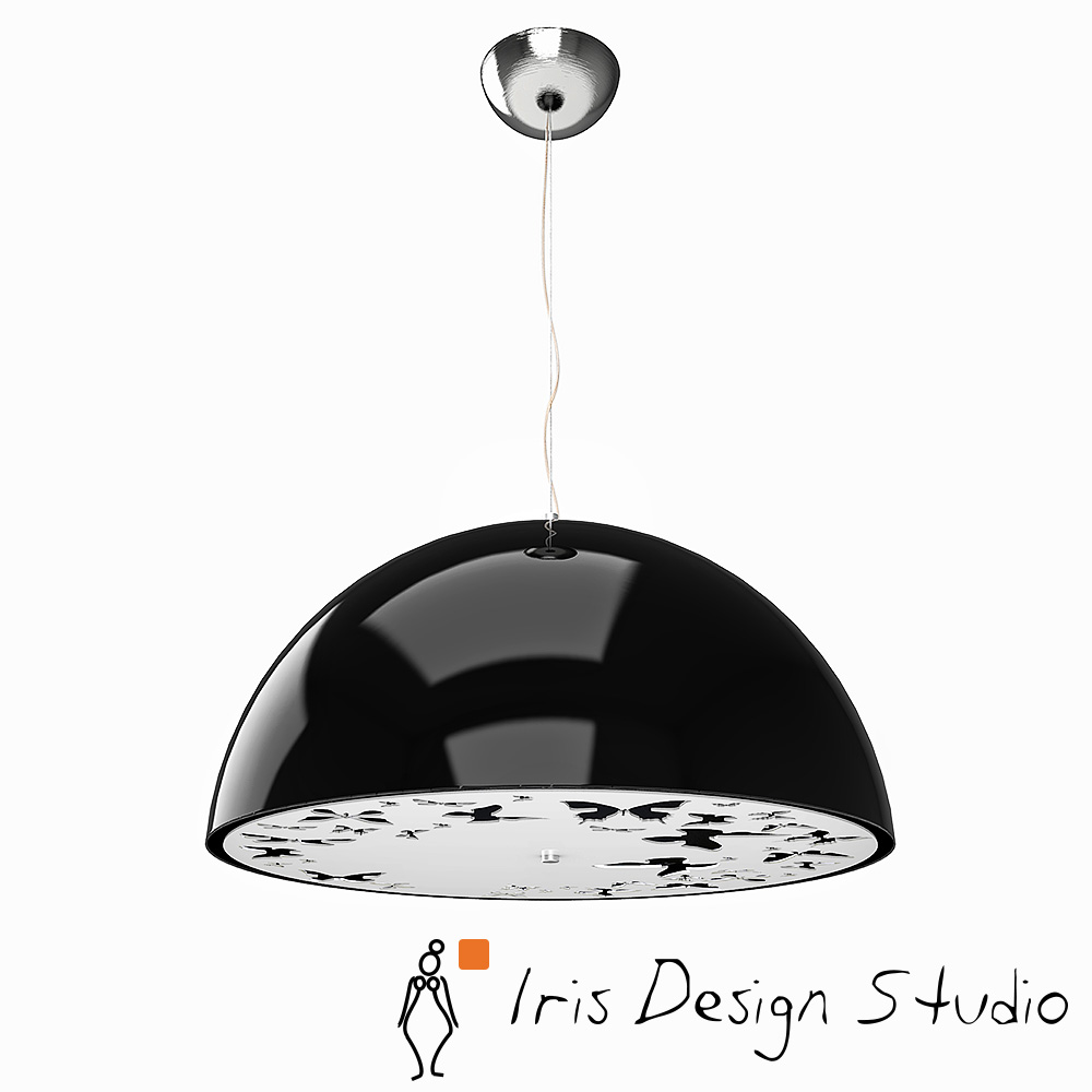 Atitlan ceiling lamp black cap iris design studio for Product design studio