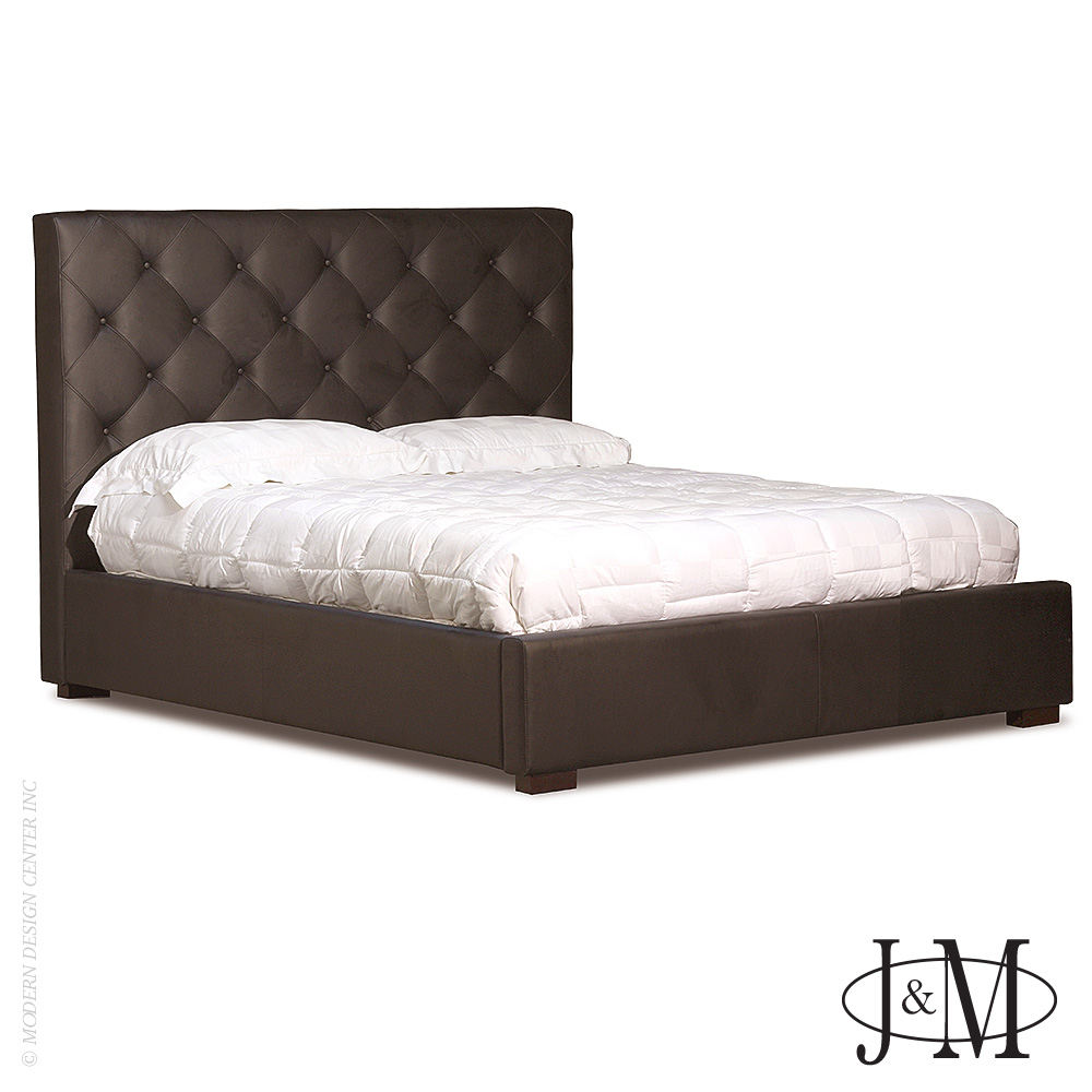 Zoe Storage Bed Full Size in Chocolate | J&M Furniture