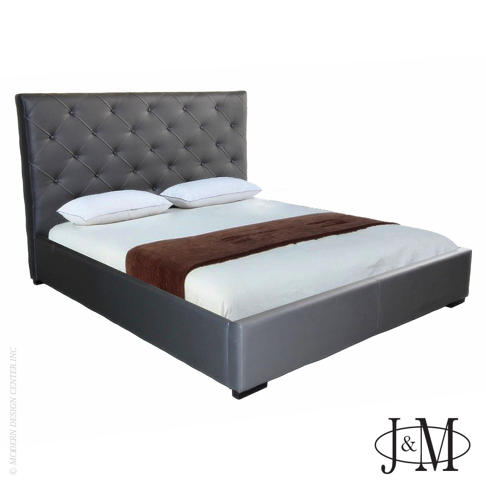 Zoe King Bed Grey | J&M Furniture