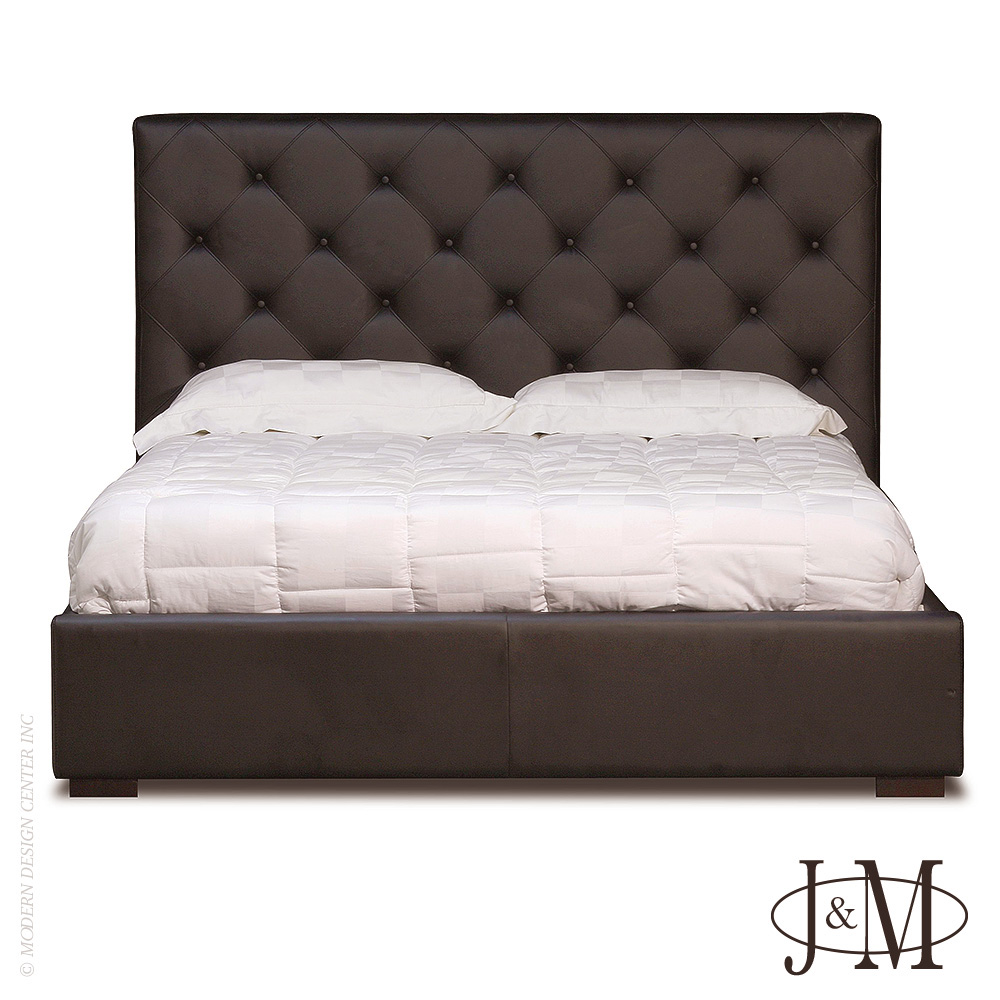 Zoe Storage Bed Queen Size in Chocolate | J&M Furniture