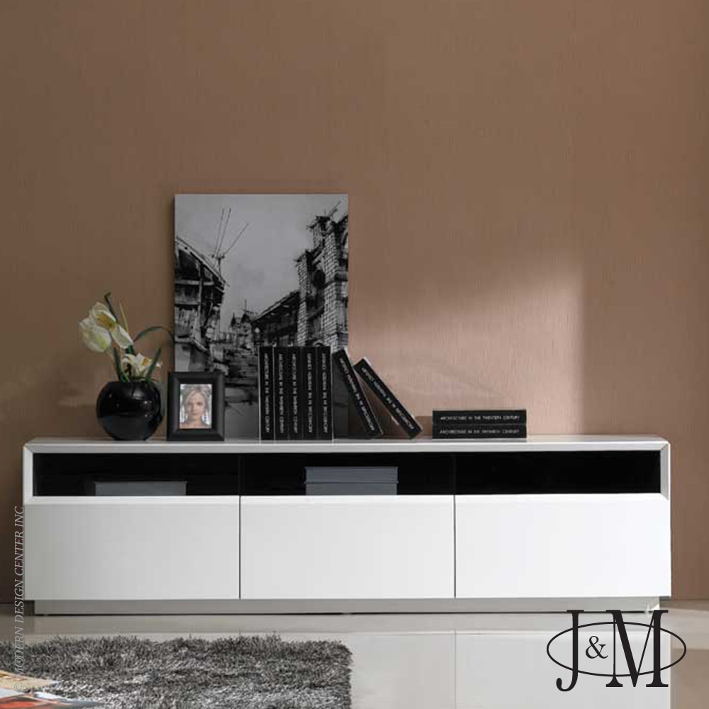 TV Stand 023 in White High Gloss | J&M Furniture