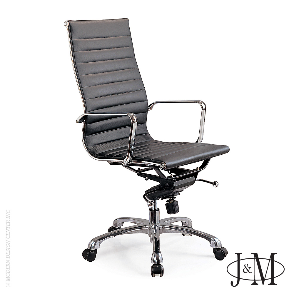 Comfy High Back Black Office Chair | J&M Furniture