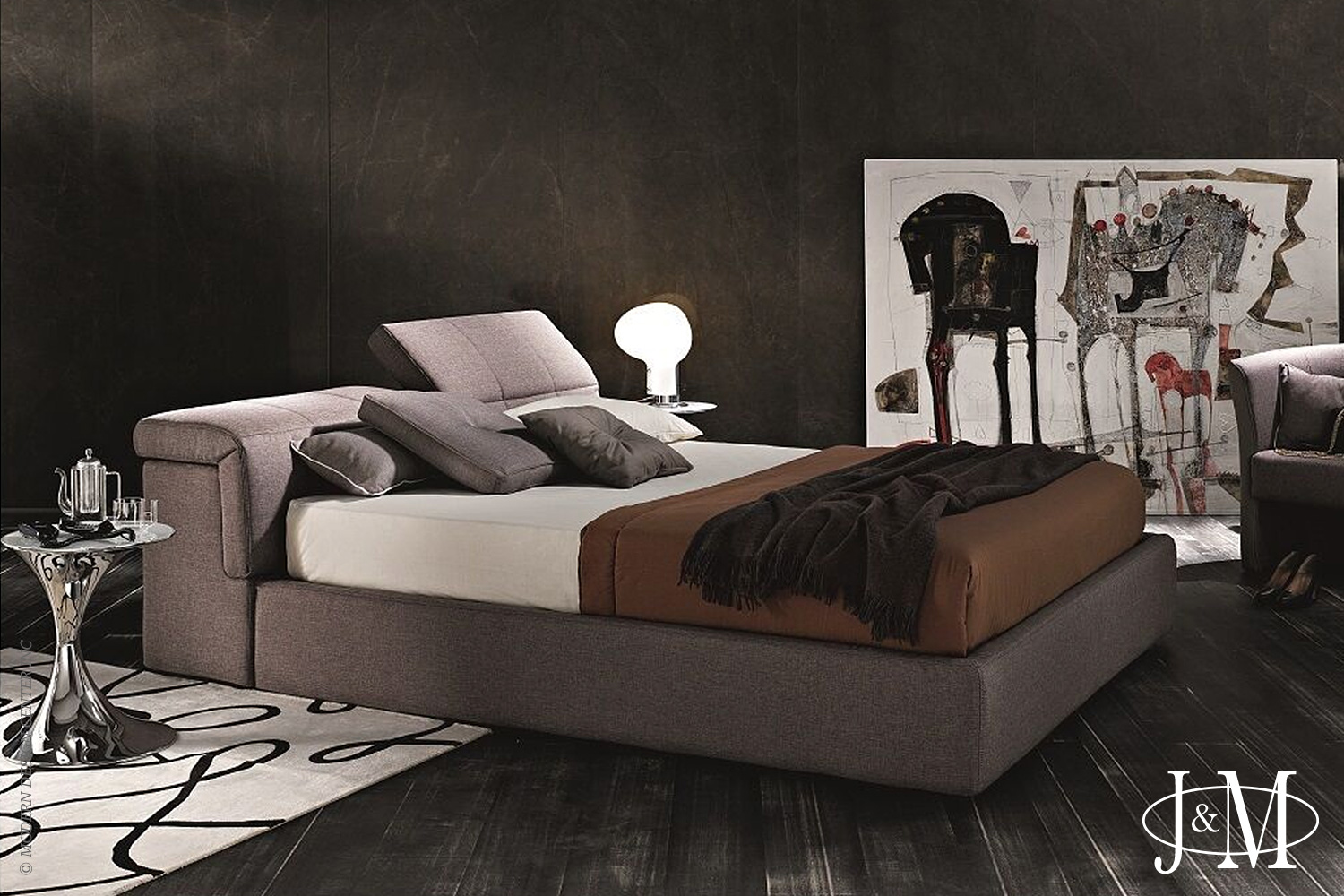 Tower King Bed S600 Taupe | J&M Furniture