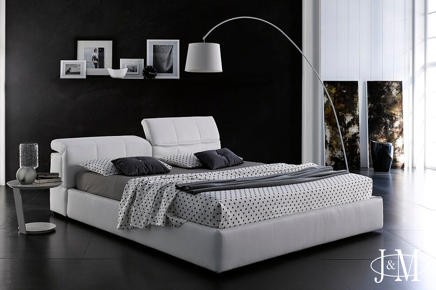 Tower Queen Bed D718 White | J&M Furniture