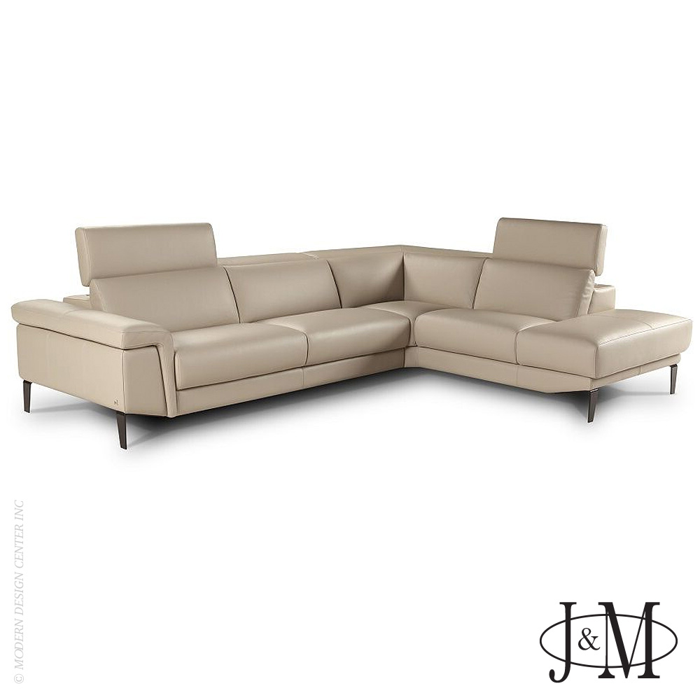 Italian Leather Sharon Sectional RHF 1511 | J&M Furniture