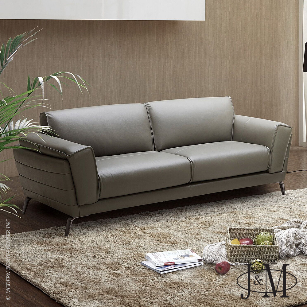 home u003e furniture u003e sofas u003e berlin italian leather sofa in grey ju0026m furniture - Italian Leather Sofa