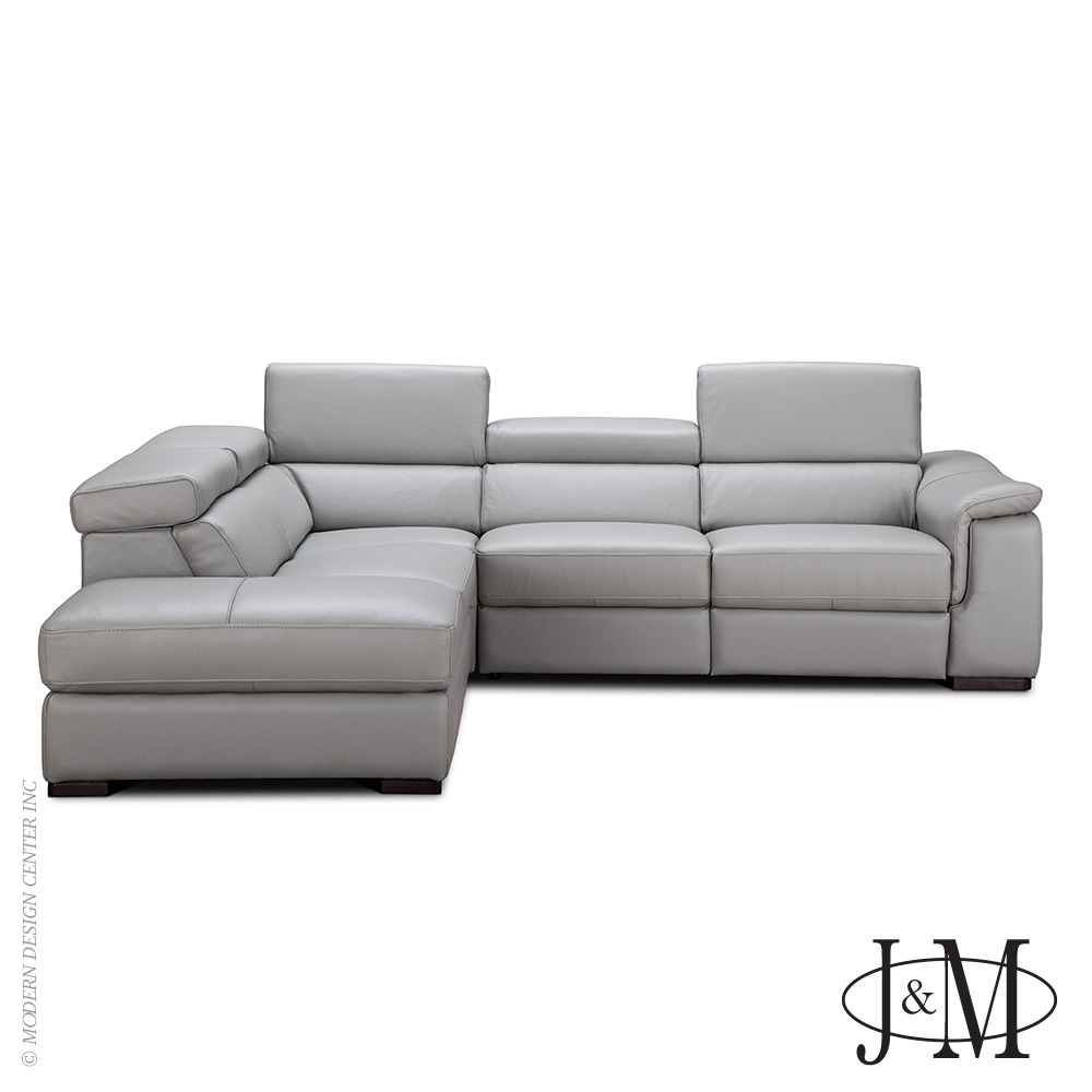 Perla Premium Leather Sectional LHF Chaise | J&M Furniture
