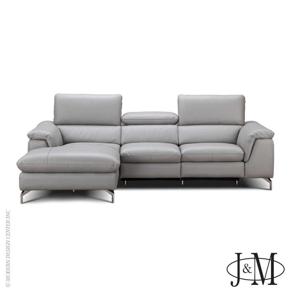 Serena Premium Leather Sectional LHF Chaise | J&M Furniture