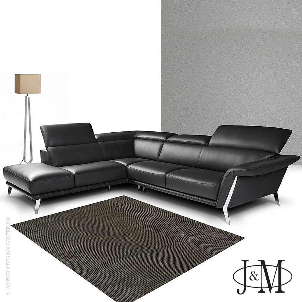 Heni Premium Leather Sectional LHF Chaise | J&M Furniture