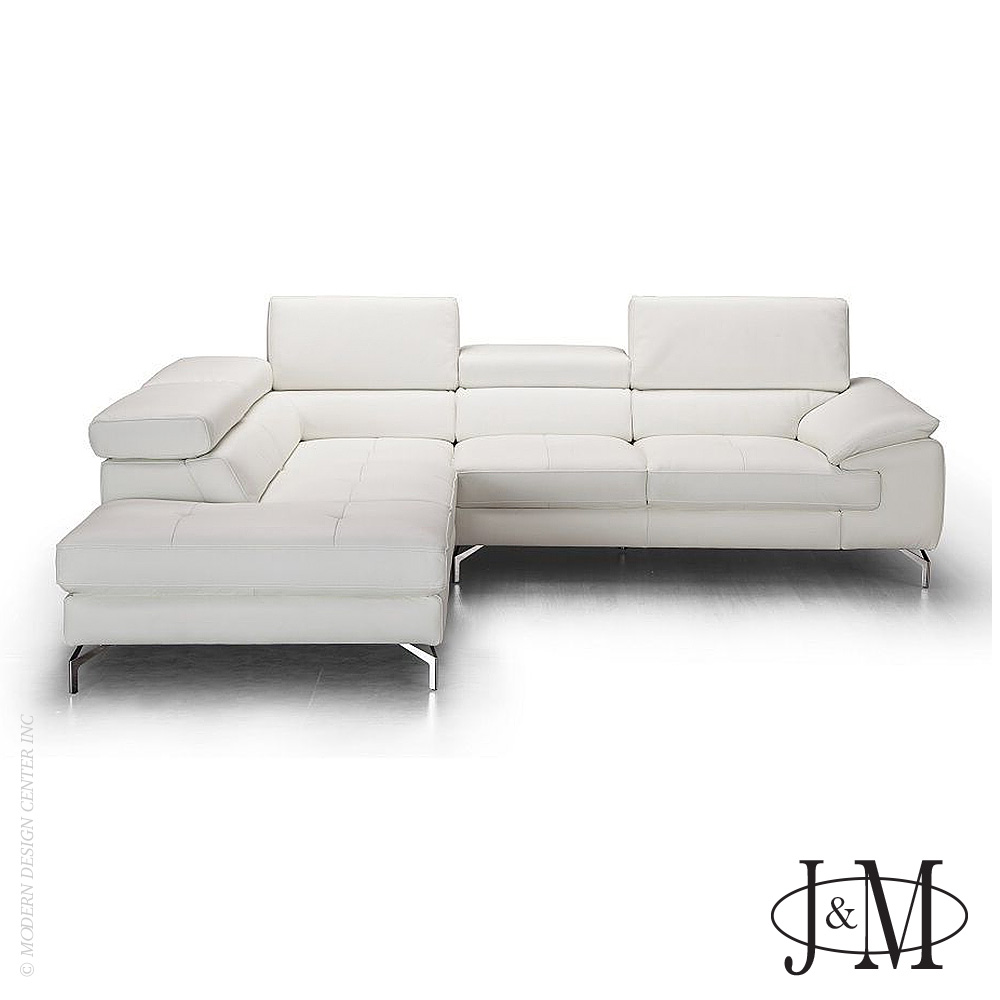 Nila Premium Leather Sectional LHF Chaise | J&M Furniture