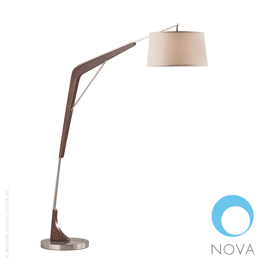 Crane Arc Floor Lamp | Nova | MetropolitanDecor