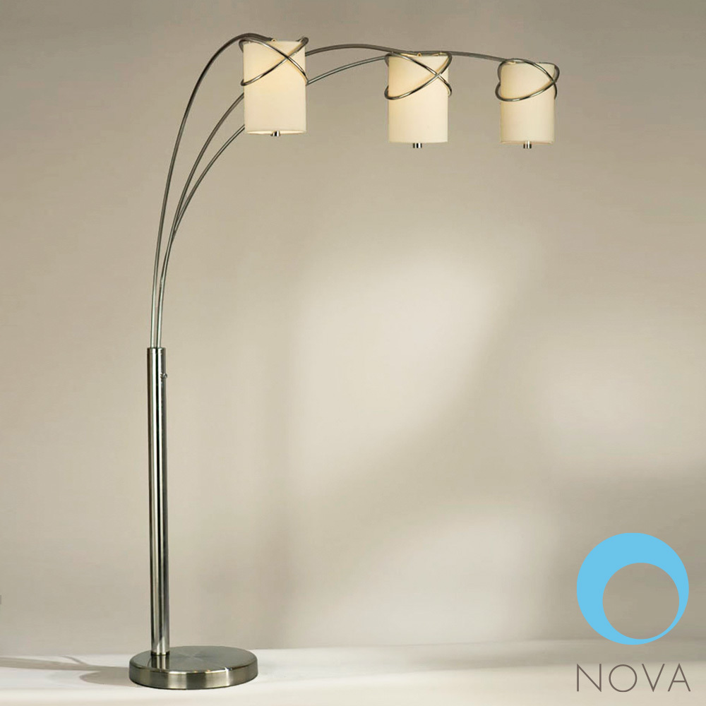 Internal 3 light arc floor lamp nova metropolitandecor mozeypictures Choice Image