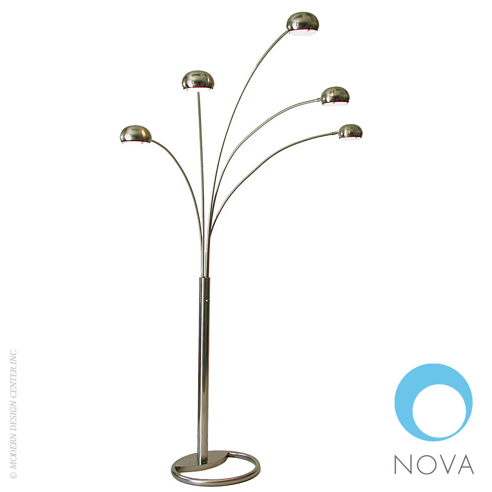 Mushroom 5 Halogen Light Arc Floor Lamp Nova