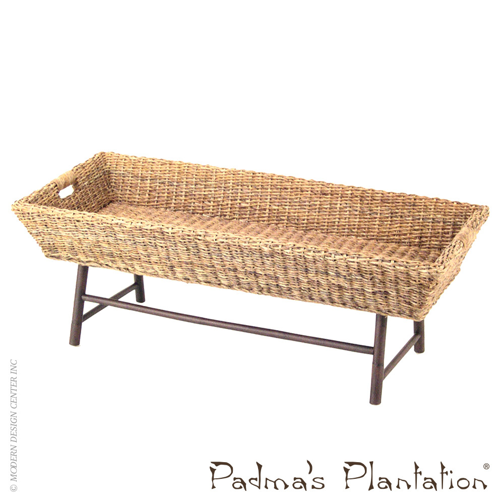 Basket coffee table padma 39 s plantation metropolitandecor Coffee table baskets