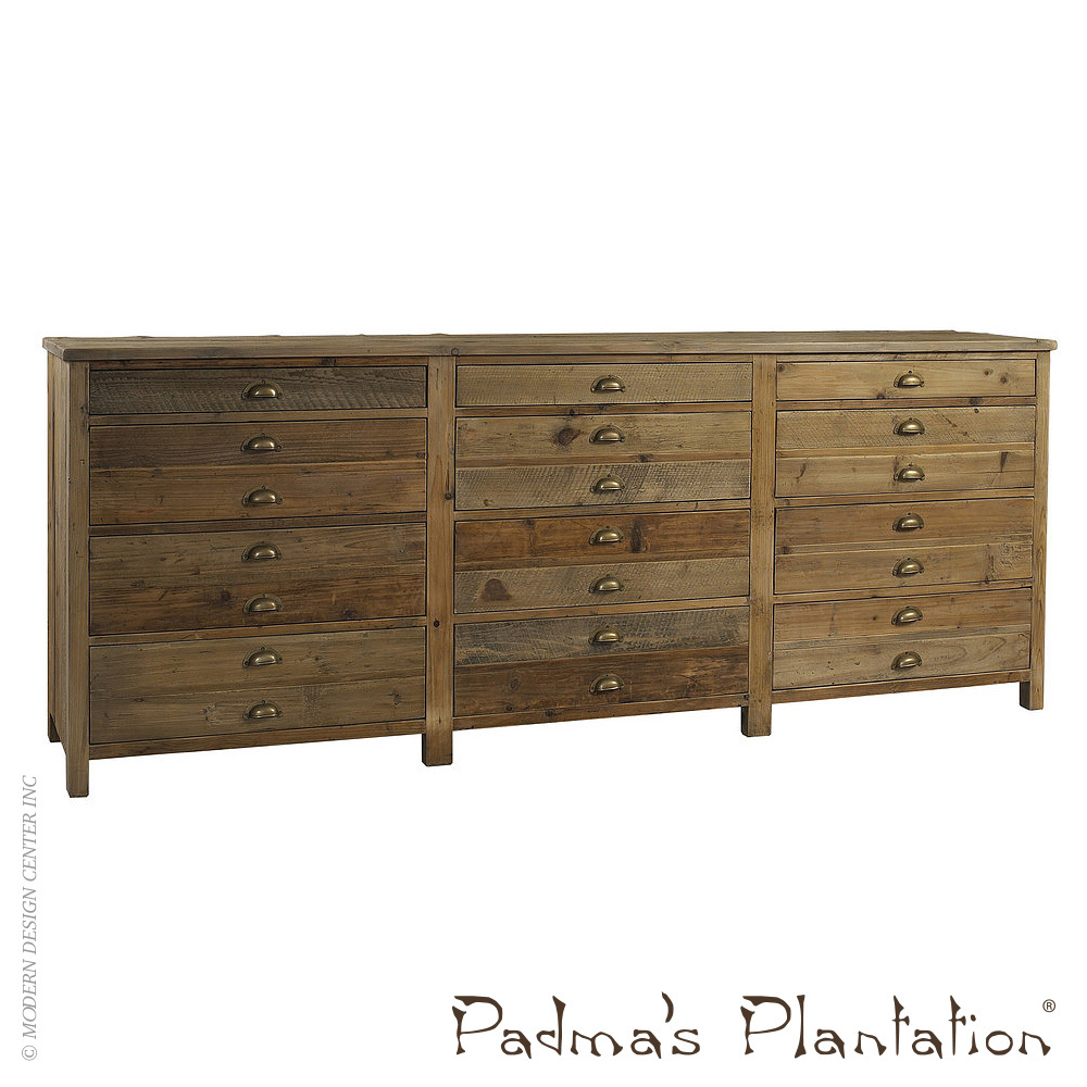 Salvaged Wood Printmaker's Sideboard | Padma's Plantation