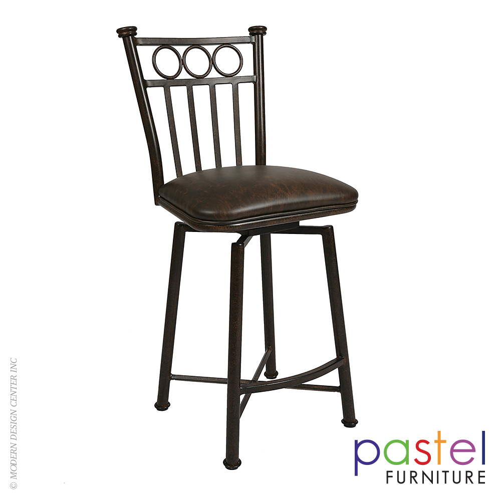 Bostonian Swivel Barstool BO-219-26-AR-649 | Pastel Furniture