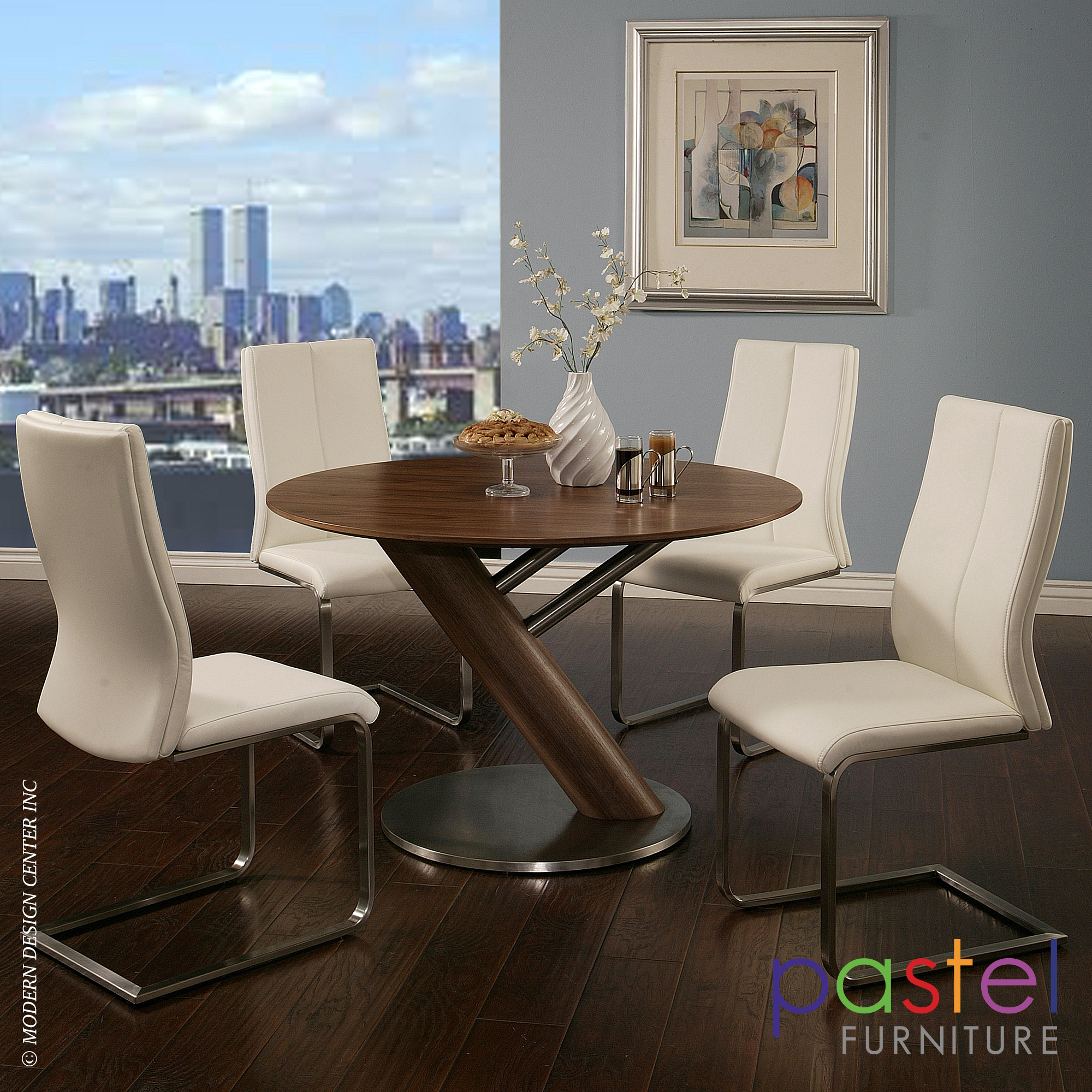 Indiana Table With Olander Chair Set Pastel Furniture