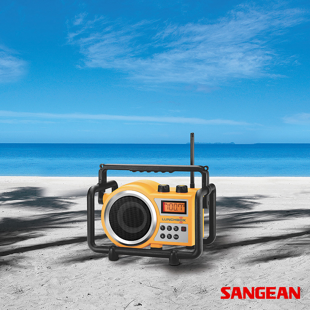 LUNCHBOX Compact FM AM Ultra Rugged Radio Receiver | Sangean