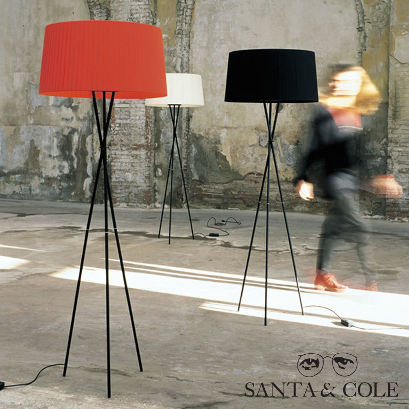 tripode g5 floor lamp santa cole metropolitandecor. Black Bedroom Furniture Sets. Home Design Ideas