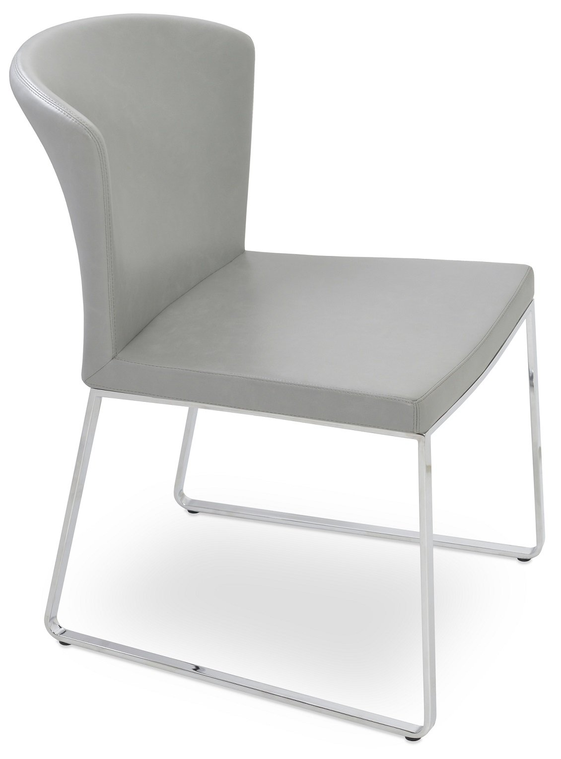 home furniture dining chairs capri sled dining chair